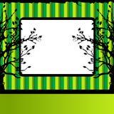 Baumschattenbild, grün Lizenzfreies Stockfoto