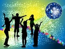 Baumschulenabendparty in der Artdisco Lizenzfreie Stockbilder