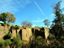 Baumstamm-Hügel-Steinbruch, Derbyshire Lizenzfreies Stockbild
