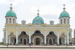 Baumstamm Medhane Alem Church Stockfotos