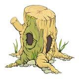 Baumstumpf heiligen Höhle Stockfoto