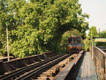 Baumtunnel und der Zug lizenzfreie stockfotos