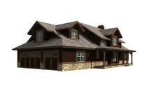 Baumuster 3d von einem waagerecht ausgerichteten Haus Stockfotos