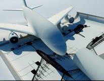 Baumuster des Flugzeuges stockbilder