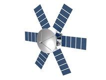 Baumuster eines künstlichen Satelliten Stockbilder