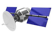 Baumuster eines künstlichen Satelliten Lizenzfreie Stockfotos