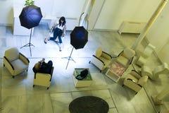 Baumuster und Fotograf Stockbilder
