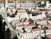 Baumuster von altem Jerusalem. Hasmonean Palast. Stockbilder