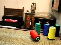 Baumwolle im Orientalischart Raum Stockfotografie