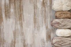 Baumwolle und Leinengarn lizenzfreies stockbild