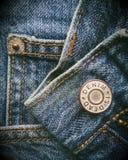 Baumwollgewebe eines Jeansdetails stockbilder