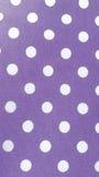 Baumwollgewebe mit weißen Punkten, abstrakter Hintergrund Stockfoto