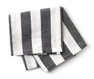 Baumwollserviette auf Weiß Stockfoto