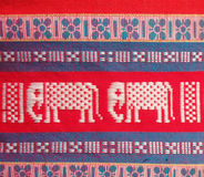 Baumwollstreifengewebe Thailands lokale Stockbild
