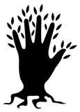 Baumzeichen Stockfoto
