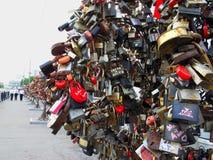 Baumzeile der Liebe Lizenzfreies Stockfoto