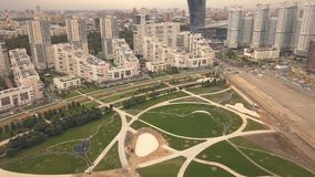 Baunaturpark in der Stadtnachbarschaft Baustelle-Stadtpark stockbilder