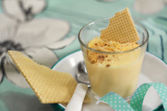 Baunilha da sobremesa e creme da amêndoa Imagens de Stock