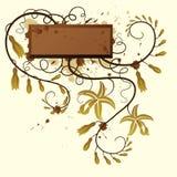 Baunilha. Fundo floral. ilustração royalty free