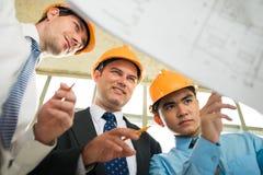 Bauplan Stockfotografie