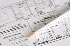 Bauplan Lizenzfreies Stockfoto