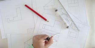 Bauplan lizenzfreies stockbild