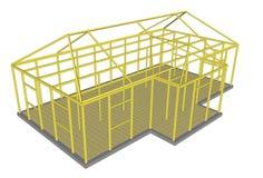 Bauprozesswerkzeug- und -materialerrichten Stockbild