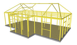 Bauprozesswerkzeug- und -materialerrichten Stockbilder
