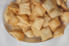 Baursaks. Kazakh national food on the plate Stock Images