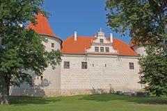 Bauska城堡在拉脱维亚 免版税库存图片
