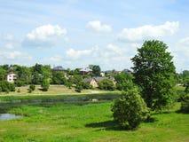 Bauske-Stadt, Lettland stockfoto