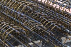 Baustahlelementhintergrund Stockbilder