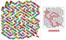 Bausteinlabyrinth (Quadrat) Lizenzfreie Stockbilder