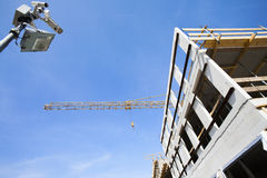 Baustelleüberwachung lizenzfreies stockfoto