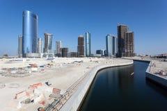 Baustelle in Abu Dhabi Stockbilder