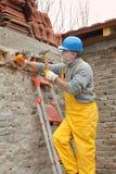 Baustelle, Altbauzerstörung Lizenzfreies Stockbild