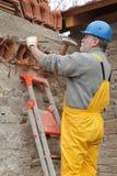 Baustelle, Altbauzerstörung Stockfotografie