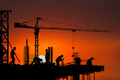 Baustelle, Arbeitskraft, Arbeitskräfte, Hintergrund Stockbild