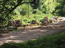 Baustelle auf einem Wanderweg Lizenzfreies Stockbild
