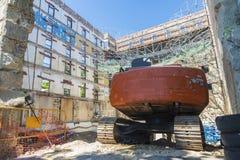 Baustelle in Barcelona Stockfotos