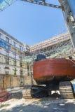 Baustelle in Barcelona Stockfoto