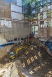 Baustelle in Barcelona Lizenzfreies Stockbild