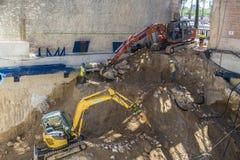Baustelle in Barcelona Lizenzfreie Stockbilder