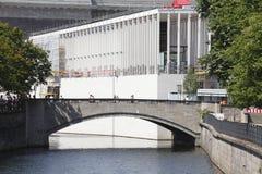 Baustelle bei Museumsinsel in Berlin Stockfotografie