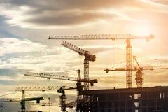Baustelle bei Sonnenaufgang Lizenzfreie Stockbilder