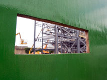 Baustelle-Betrachtungsschlitz lizenzfreie stockfotos