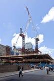 Baustelle am Bodennullpunkt Stockbild