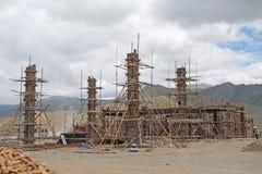 Baustelle in den Bergen Stockbild