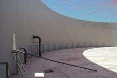 Baustelle der Biogas-Anlage lizenzfreies stockbild