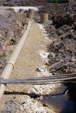 Baustelle der Gasgesellschaft Lizenzfreies Stockfoto